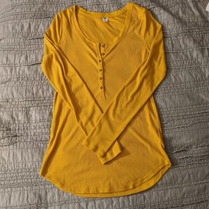 Old Navy Fitted Ribbed Henley Large TALL
